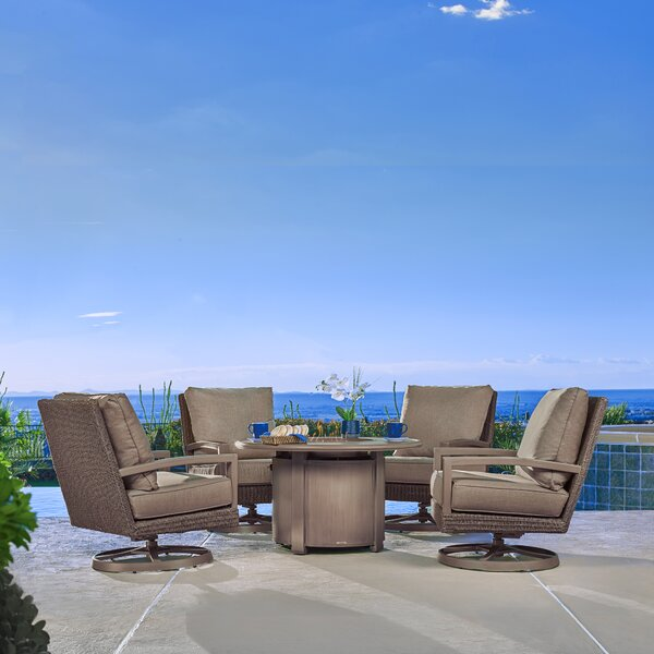 Hampton 5 Piece Sunbrella Seating Group with Cushion by Winston Winston