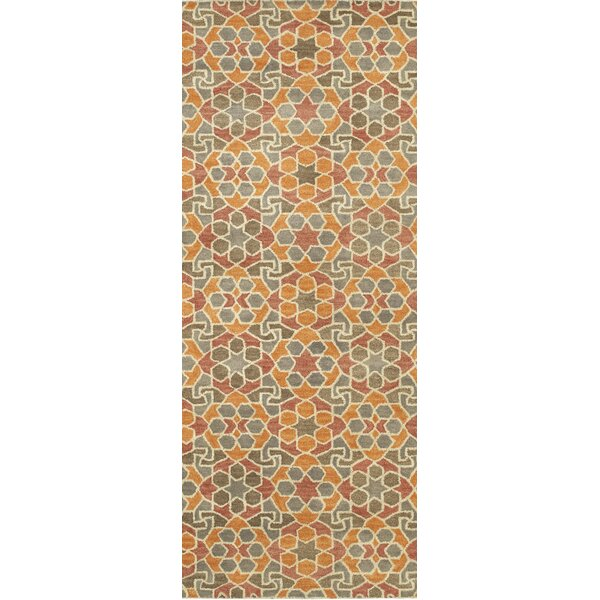 Devereaux Hand Tufted Orange Area Rug