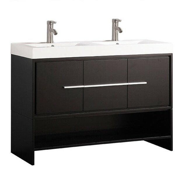 Pouliot Modern 47 Double Bathroom Vanity Set by Orren Ellis