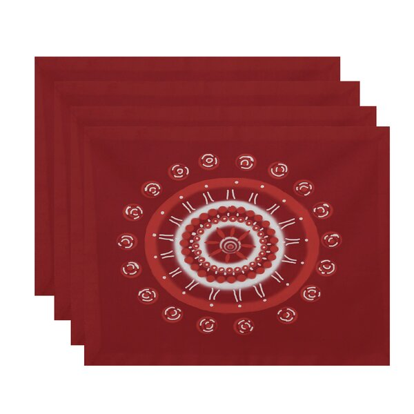 Nandai Geometric Placemat (Set of 4) by Bungalow Rose