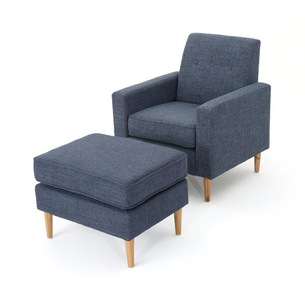 Ezequiel 22 inch Armchair and Ottoman by Langley Street™