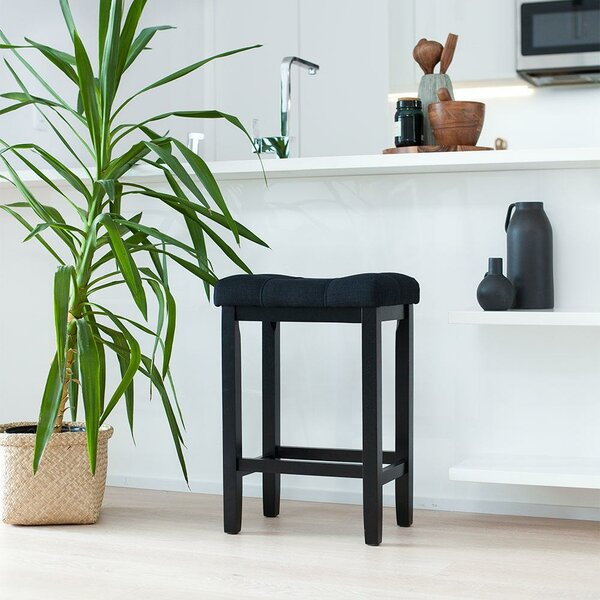 Firth Wood Kitchen Bar Stool by Breakwater Bay