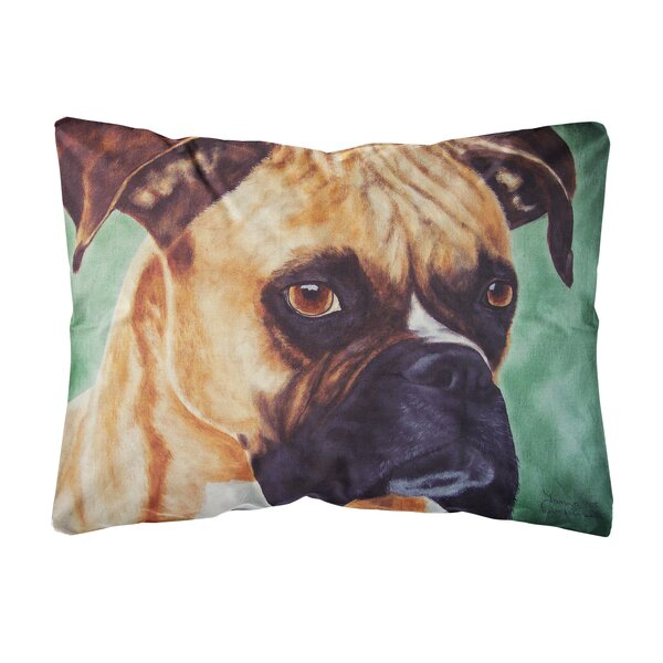 Rudisill Boxer by Tanya and Craig Amberson Fabric Indoor/Outdoor Throw Pillow by Winston Porter