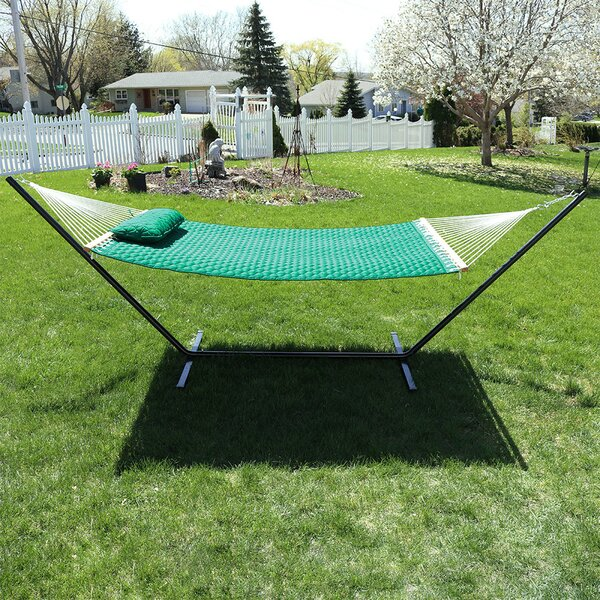Angelo Quilted Designs Double Spreader Bar Hammock with Stand by Freeport Park