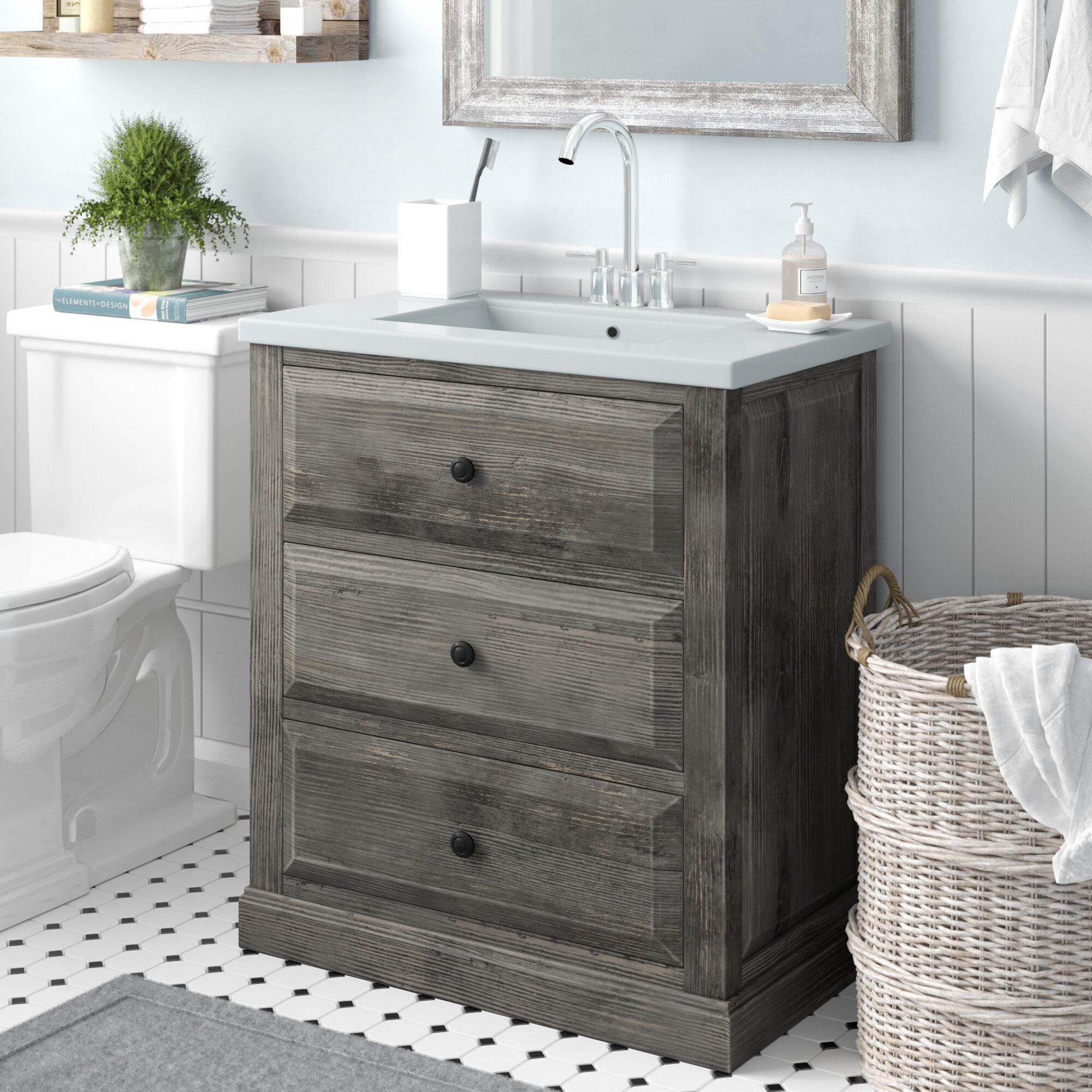laurel foundry modern farmhouse bellevue 30 single sink bathroom rh wayfair com bathroom vanities single sink 30 inches bathroom vanities single sink 36 inches