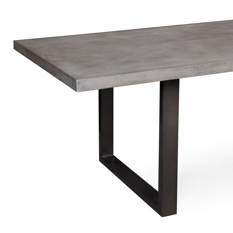 Carnarvon Concrete Dining Table Reviews Birch Lane - Cement look dining table