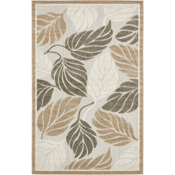 Brimfield Beige Indoor/Outdoor Area Rug by Bay Isle Home