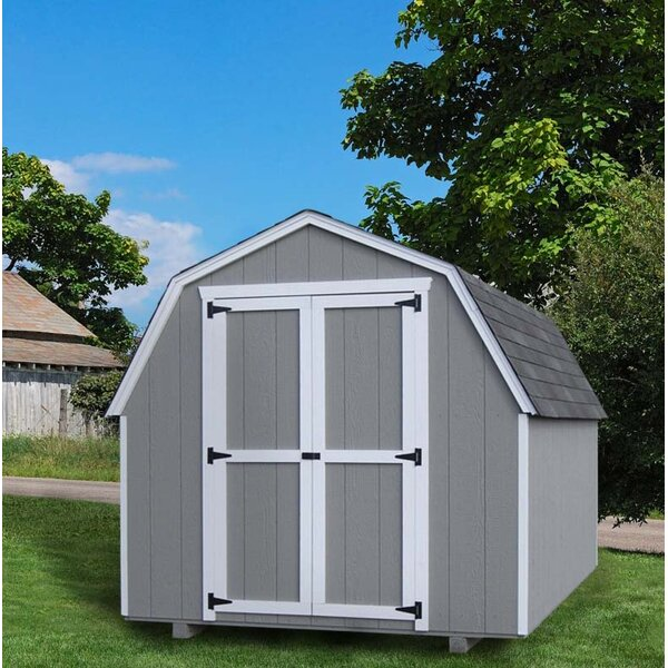 Value Gambrel Barn Precut Kit Solid Wood Storage Shed by Little Cottage Company