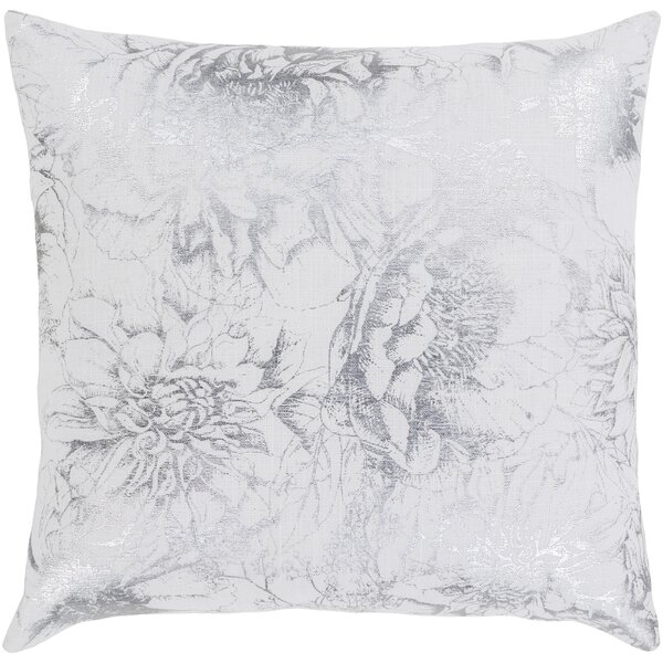 Crescent Modern Floral Cotton Throw Pillow by Surya
