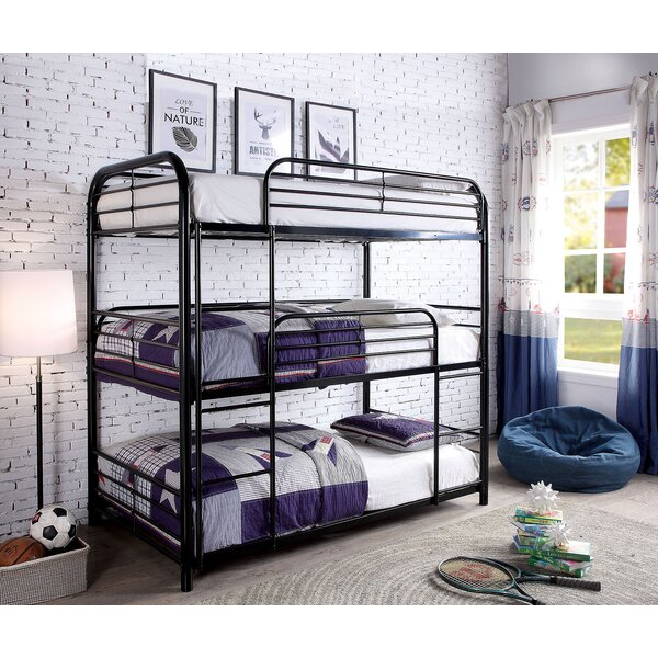 Overcash Twin over Twin over Twin Triple Bunk Bed by Zoomie Kids
