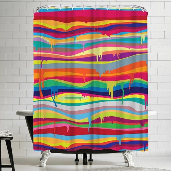 Joe Van Wetering The Melting Shower Curtain by East Urban Home