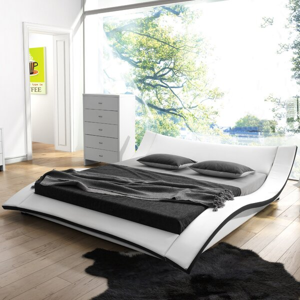 Damen Upholstered Platform Bed by Wade Logan