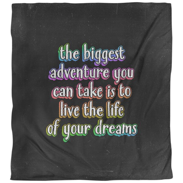 Quotes the Biggest Adventure Single Reversible Duvet Cover