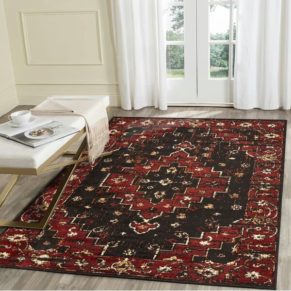 Liberty Hill Black/Beige Area Rug by Astoria Grand