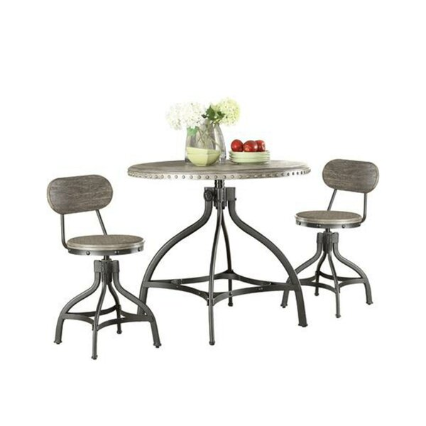 Lohr Beautiful 3 Piece Adjustable Pub Table Set by 17 Stories