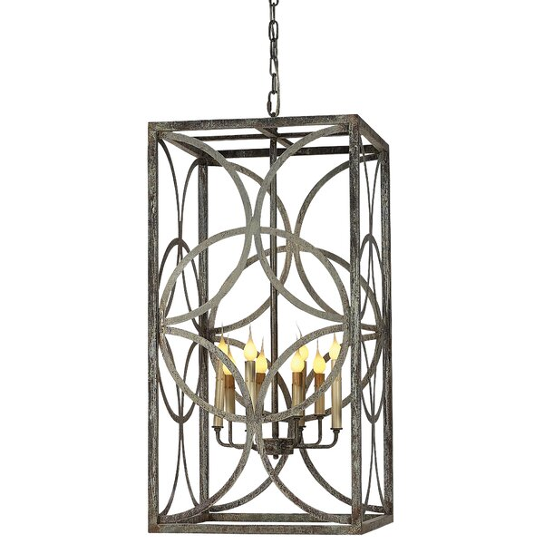Diamond 8 - Light Lantern Rectangle Chandelier by ellahome ellahome