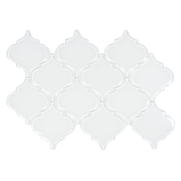 Oxygen Arabesque 3 x 3 Glass Mosaic Tile in White by CNK Tile