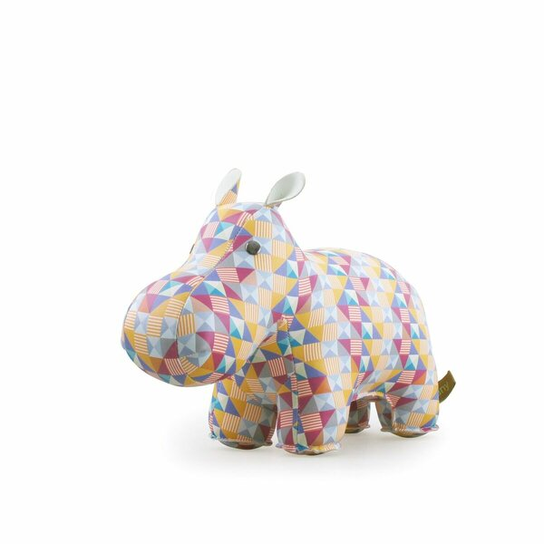 Hippo and Cube Party Book End by Zuny