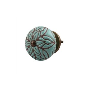 Etched Ceramic Drawer Round Knob (Set of 2)