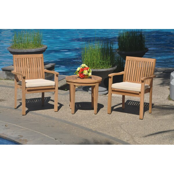 Romain 3 Piece Teak Bistro Set By Rosecliff Heights by Rosecliff Heights Bargain