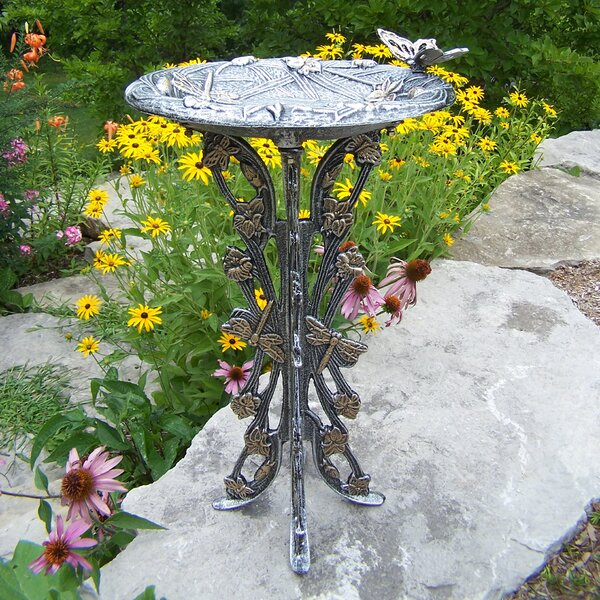 Butterfly Dragonfly Birdbath by Oakland Living