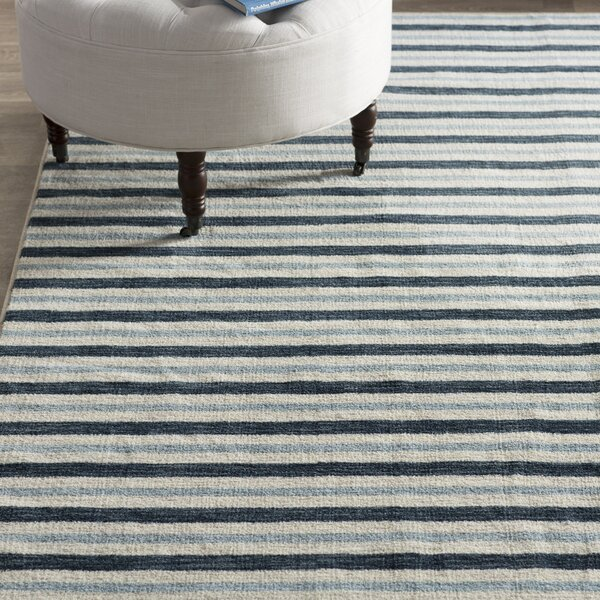 Newell Blue Area Rug by Breakwater Bay