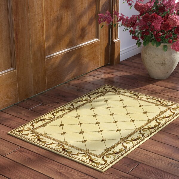 Soho Fleur De Lis Ivory Area Rug by Astoria Grand