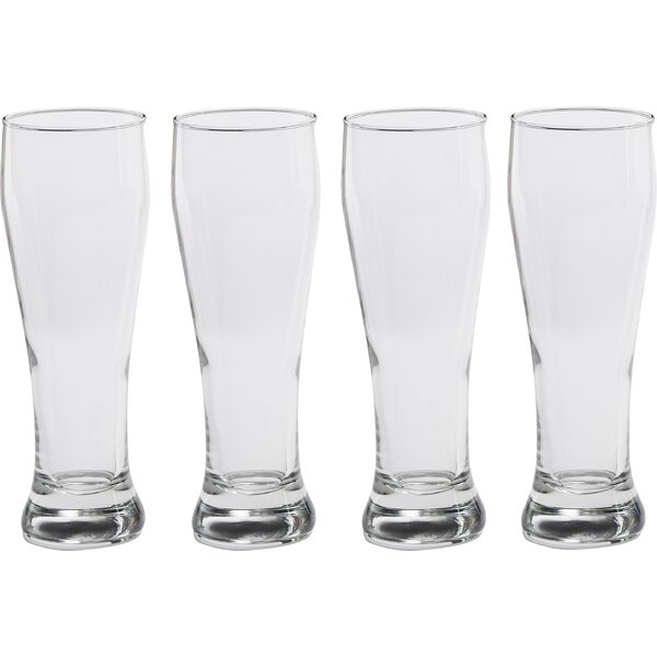 Basic 19 Oz. Pilsner Footed Glass (Set of 4) by Circle Glass