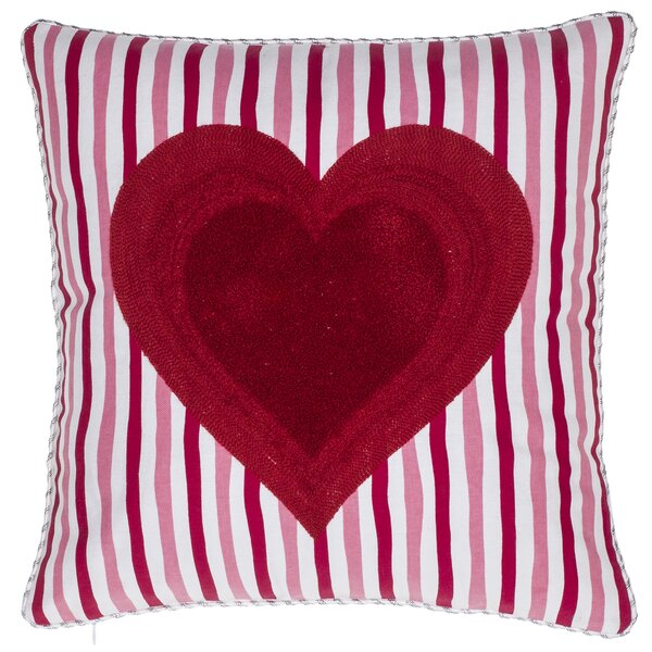 Queen of Heart Cotton Throw Pillow by 14 Karat Home Inc.
