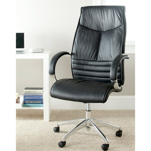 Martell High-Back Leather Executive Chair by Safavieh