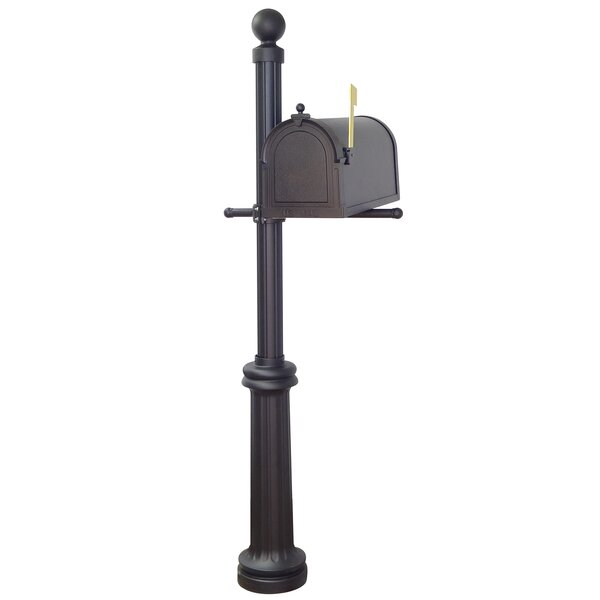 Berkshire Curbside Mailbox with Fresno Post Included by Special Lite Products