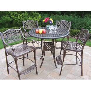 Elite Mississippi 5 Piece Bar Height Dining Set By Oakland Living