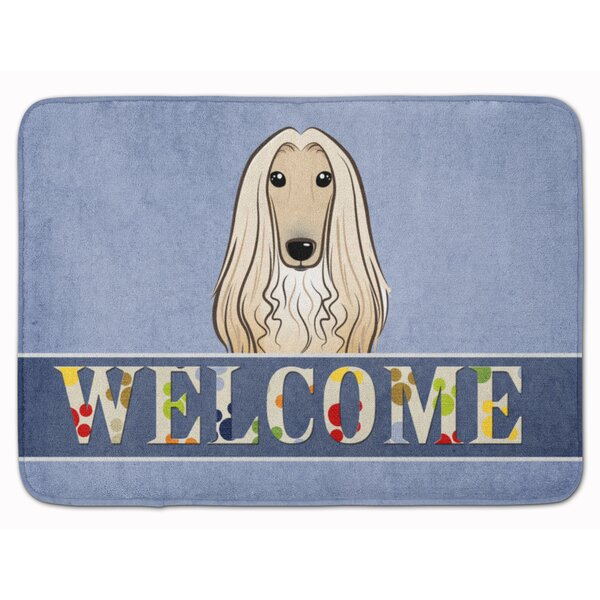 Afghan Hound Welcome Memory Foam Bath Rug