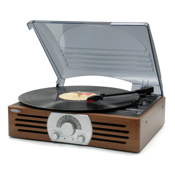 3 Speed Stereo Turntable with AM/FM Radio by Jense