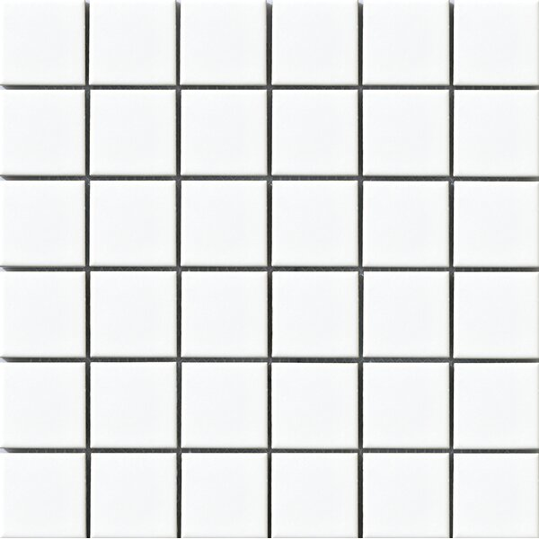 Vintage 2 x 2 Porcelain Mosaic Tile in White by Walkon Tile