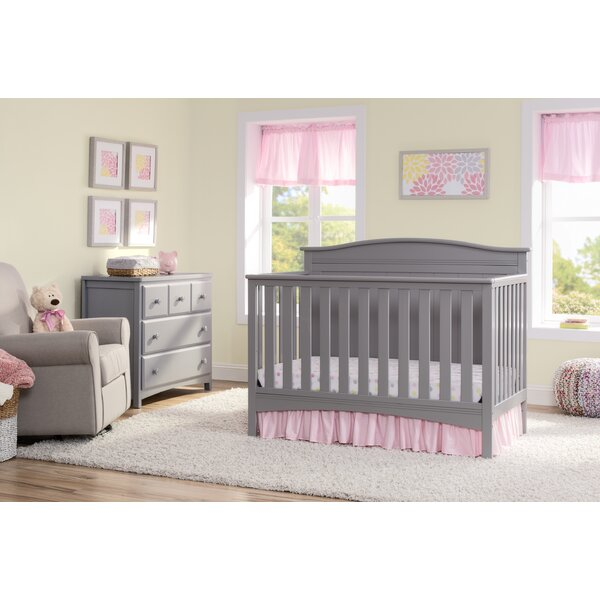 Bennett 4-in-1 Convertible 2 Piece Crib Set by Del