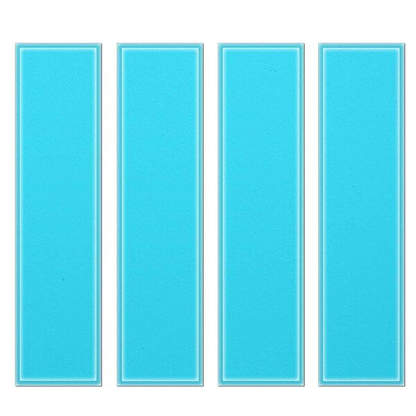 Crystal 3 x 12 Beveled Glass Subway Tile in Sky Blue by Upscale Designs by EMA