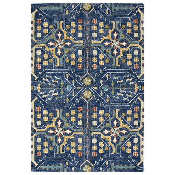 Dartmoor Hand-Tufted Navy Area Rug by Charlton Home