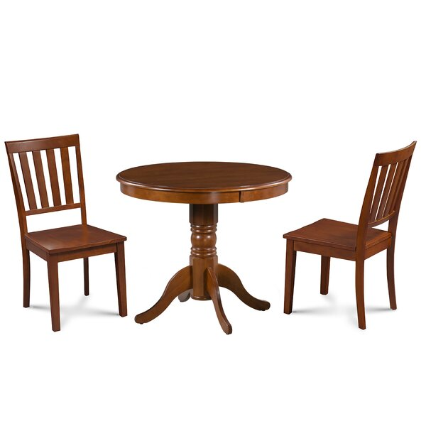 Dahlquist 3 Piece Solid Wood Dining Set by August Grove August Grove