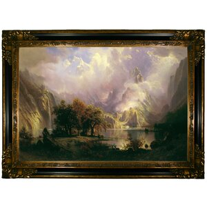 'Rocky Mountain Landscape 1870' by Albert Bierstadt Framed Painting Print by Historic Art Gallery
