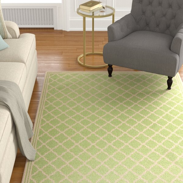 Sherell Olive/Cream Area Rug by Darby Home Co