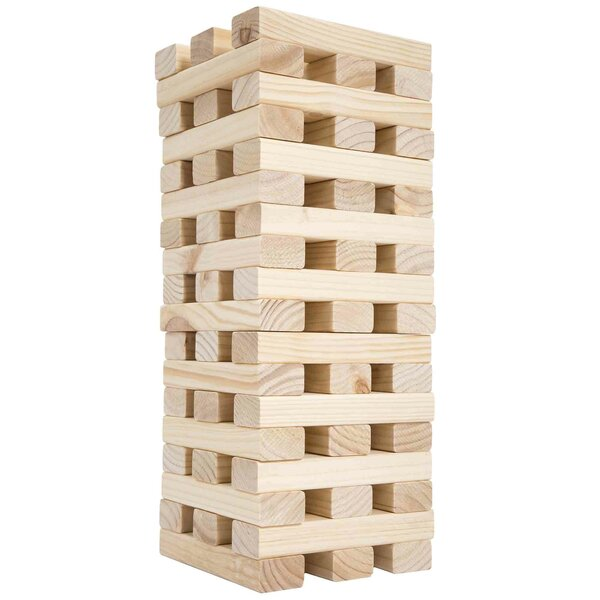 Large Wooden Tumbling Tower by Trademark GamesLarge Wooden Tumbling Tower by Trademark Games