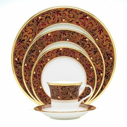 Xavier Gold Bone China 20 Piece Dinnerware Set, Service for 4 by Noritake