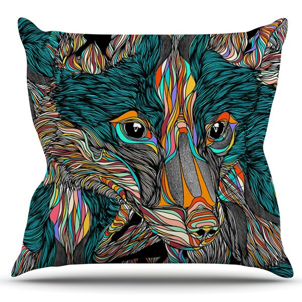 Fox by Danny Ivan Outdoor Throw Pillow by East Urban Home