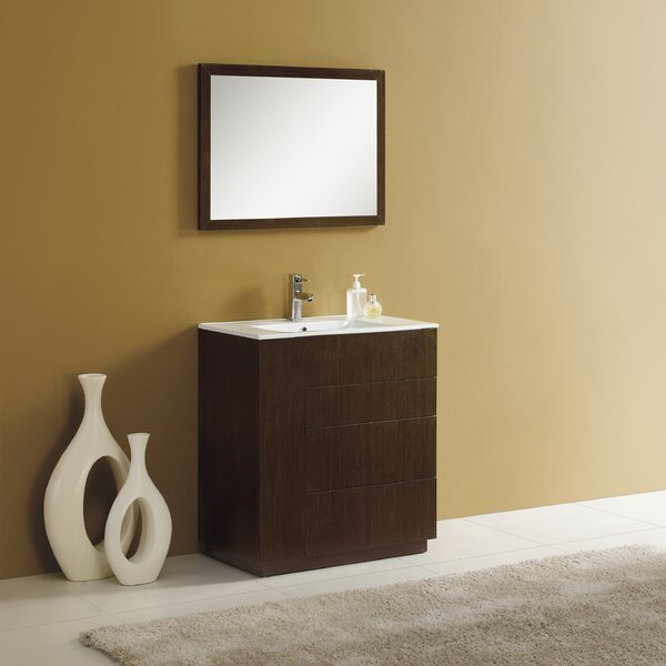 Cosmo 30 Single Vanity Set with Mirror by Adornus