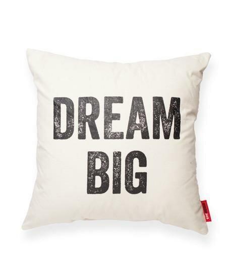 Expressive Dream Big Cotton Throw Pillow by Posh365