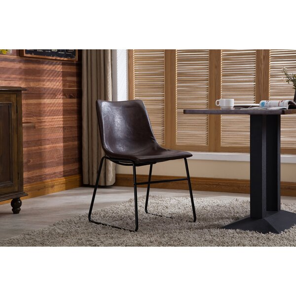 Eula Upholstered Dining Chair (Set of 2) by Wrought Studio