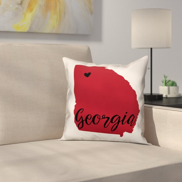 Georgia Pride Throw Pillow by East Urban Home
