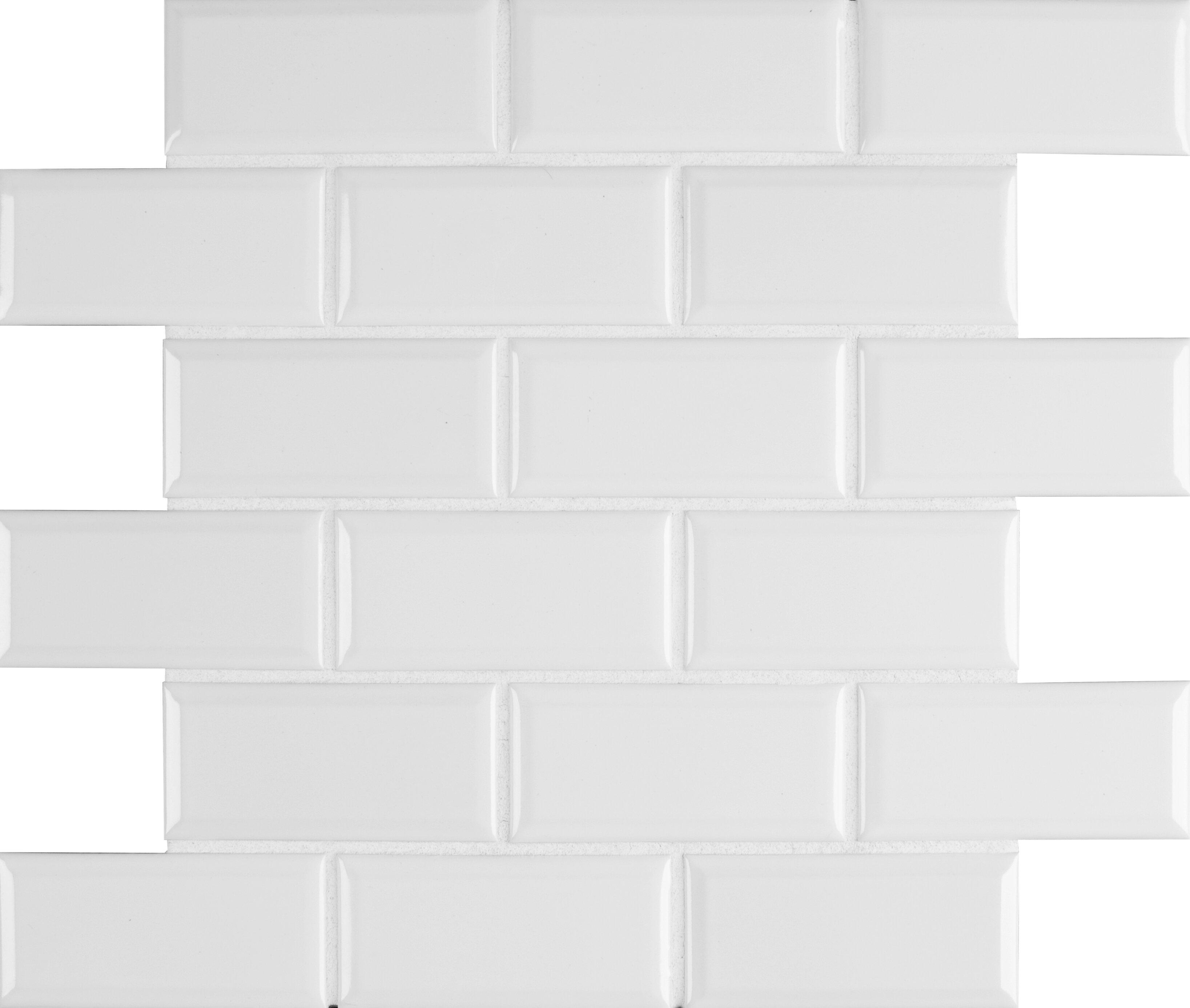 MSI Frost Bevel X Ceramic Subway In White Wayfair - 2 x 4 floor tiles