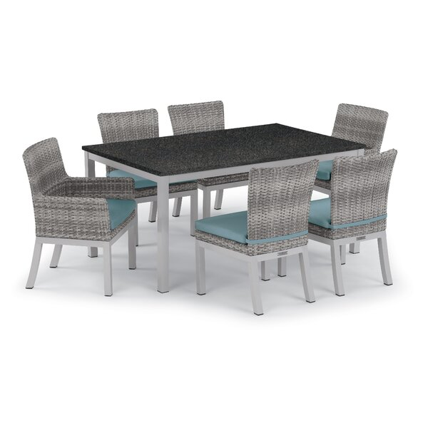 Saint-Pierre 7 Piece Dining Set with Cushions by Brayden Studio